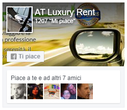 AT LuxuryRent è su Facebook, Seguici!